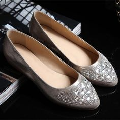 Zapatos de mujer - Womens shoes - Rhinestone Pointed Toe Flat Shoes