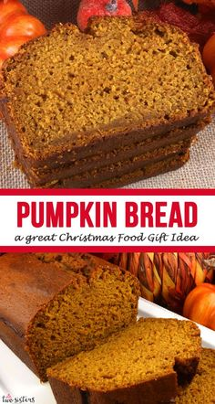 The Best Homemade Pumpkin Bread - this is a classic family recipe that never disappoints. You'll love this moist and delicious homemade pumpkin bread! Canned Pumpkin, Pumpkin Bread, Christmas Food Gifts, Diy Christmas, Pumpkin Spice Cupcakes, Fall Treats, Bear Cakes, Fall Desserts, Baking Recipes