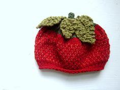 KNITTING PATTERNS PDF Pattern Strawberry Hat by sweetbabydolly