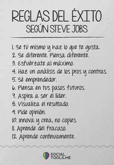 Reglas del éxito según Steve Jobs #umayor #estudiantes #emprendedores