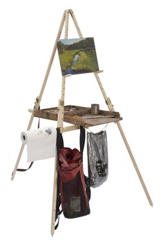 Take It Easel is the only plein air easel that supports the supplies of many mediums at an accessible height while you are standing or sitti...