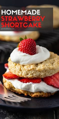 You can never go wrong with an easy summer dessert like this Strawberry Shortcake recipe! Flaky biscuits filled with fresh berries and homemade whipped cream is a dessert that makes everyone happy.