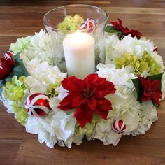 Create a beautiful centerpiece that can be used for every event, theme and season. Use a wreath form and silk hydrangeas to make this DIY wreath that you can us