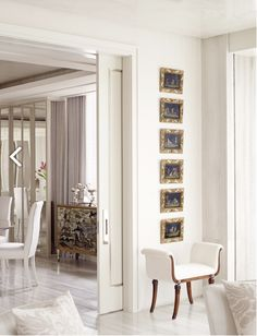 Over its twenty-three years in business, Solis Betancourt & Sherrill has gained international recognition as one of the leading American design firms. Entry Hallway, Interior Decorating, Interior Design, Design Firms, Furniture, Wall Hangings, Gold Accents, Home Decor, Layers