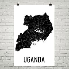 Uganda Map, Map of Uganda, Ugandan Art, Uganda Poster, Uganda Wall Art, Uganda Poster, Uganda Gifts, Uganda Decor, Ugandan, Map Art Print  URL : http://amzn.to/2mOD07b 50% Discount Code :  QP4BKMDQ