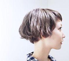 Cut My Hair, Love Hair, Short Bob Hairstyles, Hairstyles With Bangs, Short Hair Cuts For Women, Short Hair Styles, Japanese Short Hair, Cabello Hair, Hair Arrange