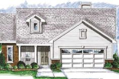 Traditional Style House Plan - 2 Beds 2 Baths 1668 Sq/Ft Plan #20-1374 Front Elevation - Houseplans.com