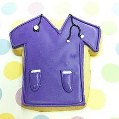 Purple scrubs cookie  Happy Nurses Day ! #flourandsun #decoratedcookies #cookie #purple #scrubs