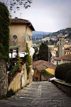 Fiesole, Italy...want to go here someday and pick olives like on Extra Virgin!!!