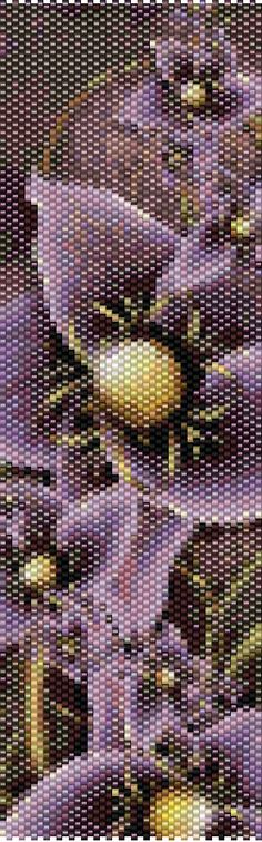 Peyote Pattern - Floral 12 by TheAbstractBeader on Etsy