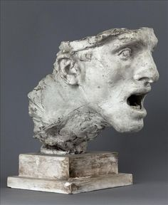 Antoine Bourdelle (French, Head Study for the monument of the town Montauban (Etude de tête pour le monument de Montauban), Sculpture Head, Stone Sculpture, Ceramic Sculpture Figurative, Figurative Art, Contemporary Sculpture, Contemporary Art, Antoine Bourdelle, Carpeaux, Ancient Art