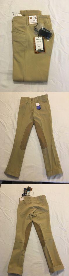 Jodhpurs and Breeches 72599: Ariat Brittany Jodhpurs Front Zip Girls Size 6, Beige With Jodhpurs Straps -> BUY IT NOW ONLY: $39.95 on eBay!