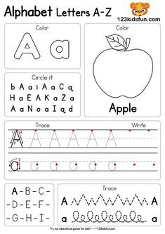 Free Alphabet Practice A-Z Letter Preschool Printable Worksheets to Learn Kids Letter Worksheets For Preschool, Abc Worksheets, Preschool Writing, Preschool Letters, Preschool Learning Activities, Preschool Printables, Alphabet Activities, Kindergarten Worksheets, In Kindergarten