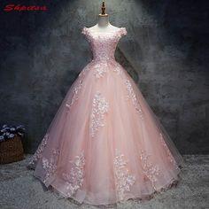 acf94ab7fb 2018 vestidos de Quinceañera de encaje Rosa 15 dulces 16 vestidos de fiesta  de quinceañera para