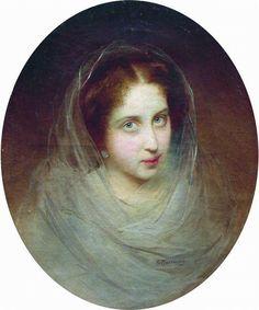 - Константин Маковский - Женский портрет, 1860