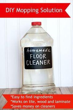 homemade mopping solution