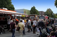 Starting a food truck business can lead to a successful career. Startup costs are much lower than a traditional brick and mortar restaurant. Food trucks are more popular than ever. This crowd is from the Mobile Chowdown in West Seattle.