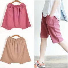 Купить товар Rop китай одежда, Конфеты цвет удобные хлопок лён без тары свободного покроя брюки, Женщины широкий ноги средний длинная брюки S 5XL в категории Брюки и капри на AliExpress.
