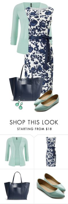 """Mint & Navy"" by sagramora ❤ liked on Polyvore featuring maurices, Precis Petite, Sole Society, Ollio and Ippolita"