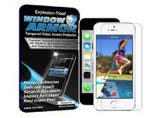 Window Armor iPhone 5/5s/5c - Premium HD, Tempered Glass Screen Protector