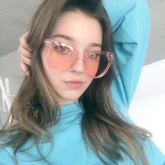 Pink and blue-🍬 Angelina Danilova, Russian Beauty, Female Models, Beauty Women, Cool Girl, Wattpad, Glasses, Lady, People
