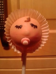 A Baby Girl Cake Pop!