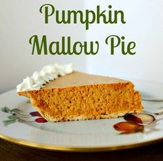 Pumpkin mallow pie is the delightful combination of pumpkin custard and soft, fluffy marshmallows. You will wonder where it has been all your life