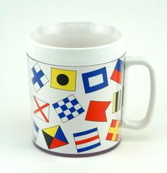 Insulated Mugs with Coastal Designs from Galleyware.... http://www.galleyware.com/Insulated-Drinkware/ $7.50