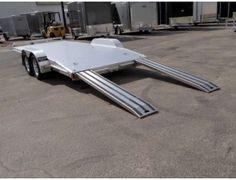 Open Aluminum x ATC – Aluminum Trailer Company Car Hauler Car Hauler Trailer, Trailer Plans, Aluminum Trailer, Batangas, Camper Caravan, Atc, Metal Working, Motorcycles, Drawers