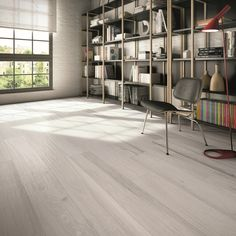Soleras Bianco Gres Porcelain Tiles with Auto-Leveling capacity Size: Office Space Design, Wood Look Tile, Interior Decorating, Interior Design, Wall And Floor Tiles, Little Houses, Flooring, Furniture, Inspiration