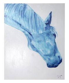 This The Indigo Stallion Wrapped Canvas is perfect! #zulilyfinds