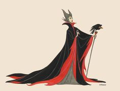 Maleficent concept art  Favorite villainous hairdo of all time