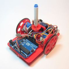 Arduino Drawing Robot: a teacher or parent may help build the robot, and kids can program the robot.