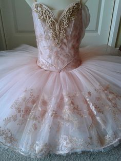 Aurora's Birthday tutu by Margaret Shore - playing with lace