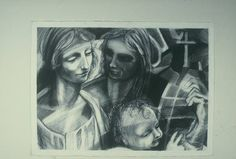 Charcoal drawing by Matthew Reilly.  Owned by Bill and Connie.