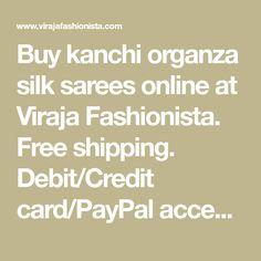 Buy kanchi organza silk sarees online at Viraja Fashionista.  Free shipping. Debit/Credit card/PayPal accepted. Kanchi Organza Sarees, Kora Silk Sarees, Silk Sarees Online, Lemon Yellow, Pure Silk, Pure Products, Free Shipping, Cards, Map