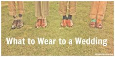 This is so incredibly helpful! What to wear to a wedding with a ton of different scenarios!