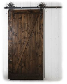 Amazon.com - Z Barn Door (Kit) - 7 ft High x 3 ft Wide - Stained + Clear Coat