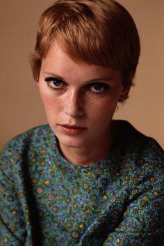 1960s Mia Farrow & that famous pixie hair-cut by Vidal Sassoon. Style icon. www.mandysmuses.com