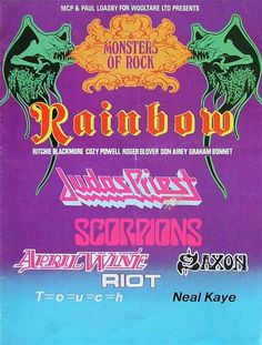The first Donnington Festival, 1980.  I attended as a wide eyed 16 year old, arriving home (hammered) at silly o'clock.
