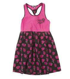 c0c564af03c Metal Mulisha Lil Maidens. Kids black and pink dress with roses. GIRLS  PRINCESS DRESS