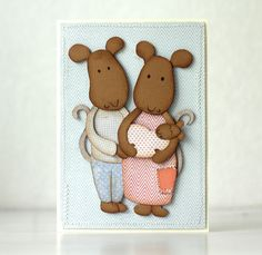Handmade 3d-card. Pastellipäivä. Gingerbread Cookies, Teddy Bear, 3d, Toys, Cards, Handmade, Animals, Gingerbread Cupcakes, Animales