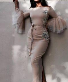 Elegant Outfit, Elegant Dresses, Pretty Dresses, Beautiful Dresses, Hijab Evening Dress, Hijab Dress Party, Evening Dresses, Hijab Fashion, Fashion Dresses