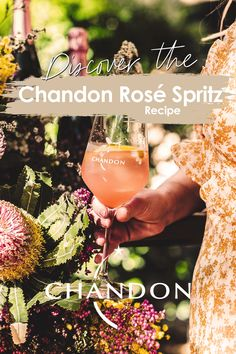 Fill glass with ice Add St Germain Elderflower Add Fresh Grapefruit Top with Chandon Sparkling Rosé Garnish with an Edible flower Share! Party Drinks, Cocktail Drinks, Cocktails, Drinks Alcohol Recipes, Non Alcoholic Drinks, Beverages, Winter Drinks, Summer Drinks, St Germain Elderflower