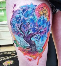 Tree of Life http://tattooideas247.com/tree-of-life-thigh/