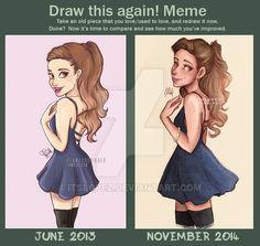 Draw This Again (Ariana) by itslopez.deviantart.com on @DeviantArt
