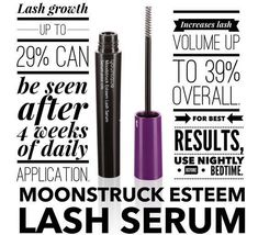 When you want lashes for days....It all starts with this little secret.. Lash Serum, use daily for growth & volume #younique #lashes #length #shhitsasecret