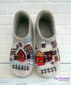 3f3ff98fb0179 143 Best felted slippers images in 2019 | Slippers, Inside shoes ...