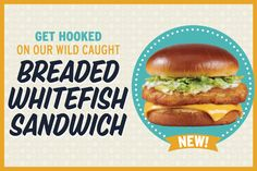 Get Hooked on Portillo's NEW Breaded Whitefish Sandwich! - General News - News | Portillo's Get Hooked, Fish Sandwich, Whitefish, Hamburger, Sandwiches, Bread, News, Ethnic Recipes, Food