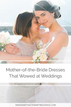 Mother-of-the-Bride Dresses That Wowed at Weddings | Martha Stewart Weddings - Long, beaded, and everything in between, these outfits suited the special occasion.#weddingstyle #motherofthebride#weddingattire